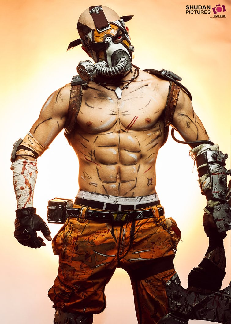 image of Leon Chiro as Psycho Krieg from Borderlands 2 | TheGeekPages.com