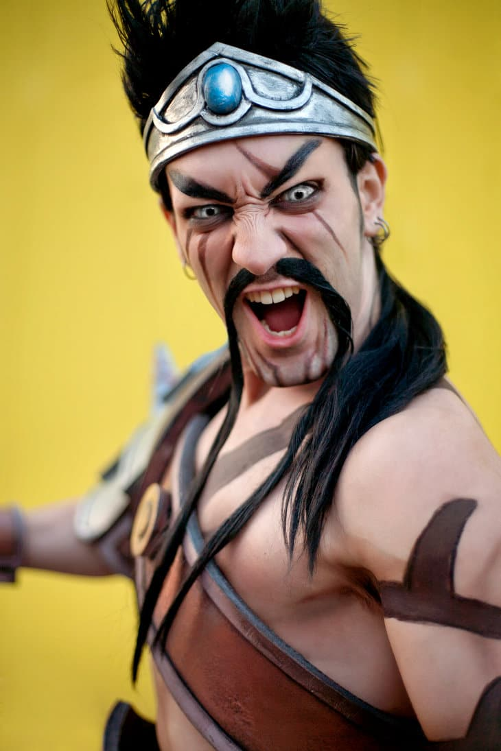 image of Leon Chiro as Draven from League of Legends | TheGeekPages.com