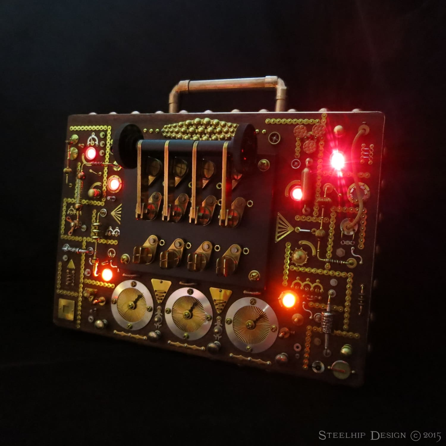 image of Steampunk Briefcase by Steelhip Design | TheGeekPages.com
