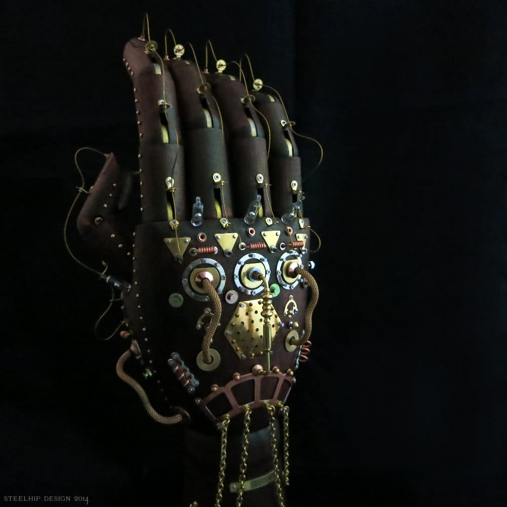 image of Steampunk Hand sculpture by Steelhip Design | TheGeekPages.com