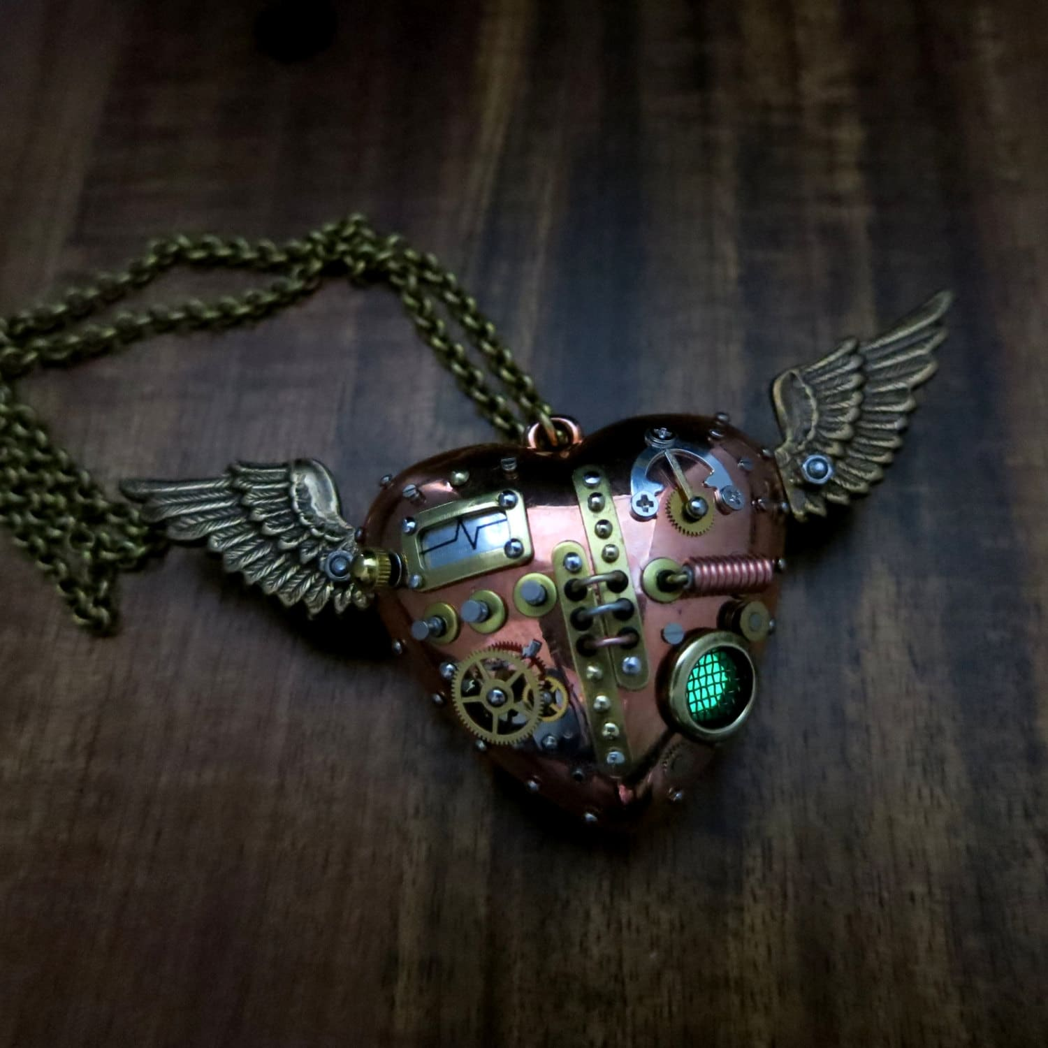image of Flying Heart pendant by Steelhip Design | TheGeekPages.com