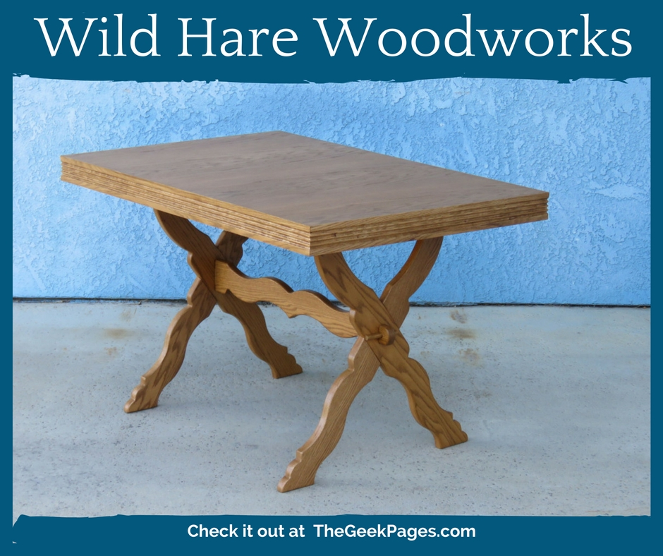 banner for Featured Listing: Wild Hare Woodworks | TheGeekPages.com