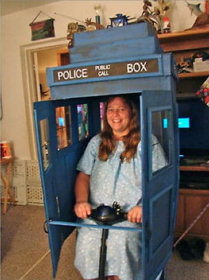 image of Tardis Scooter by StephieLuff | TheGeekPages.com